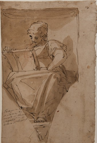Study for a Sibyl or a Muse - Luca Cambiaso, circle of