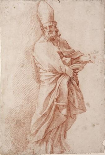 A Bishop Saint - Felipe de Castro. Attributed to
