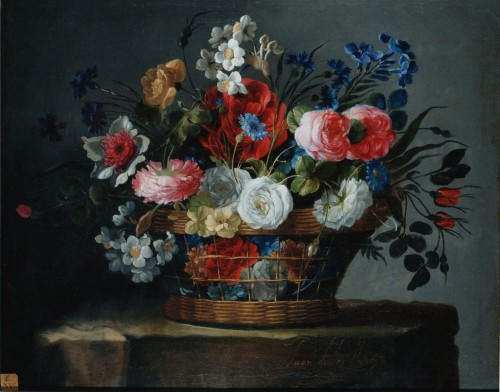 Basket of Flowers - Juan de Arellano