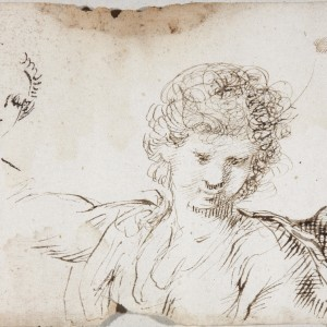 Study for an Angel and a female Face - Diego de Aguilar