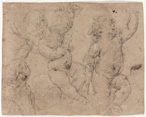 Front: Study of angels / Back: Study of saint or monk (Saint Anthony of Padua?) - Juan Carreño de Miranda