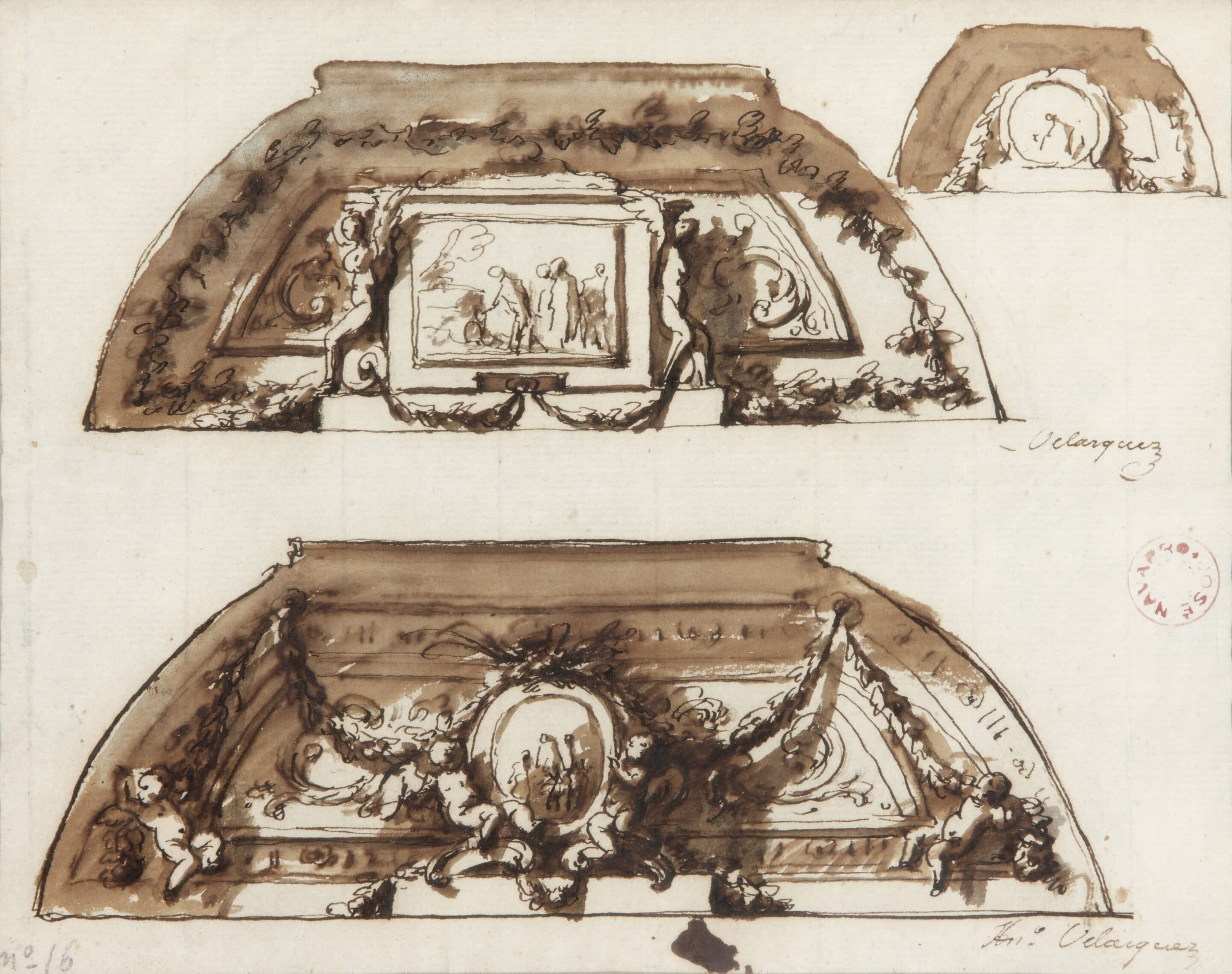 Design for the Decoration of a Palace Ceiling - Antonio González Velázquez