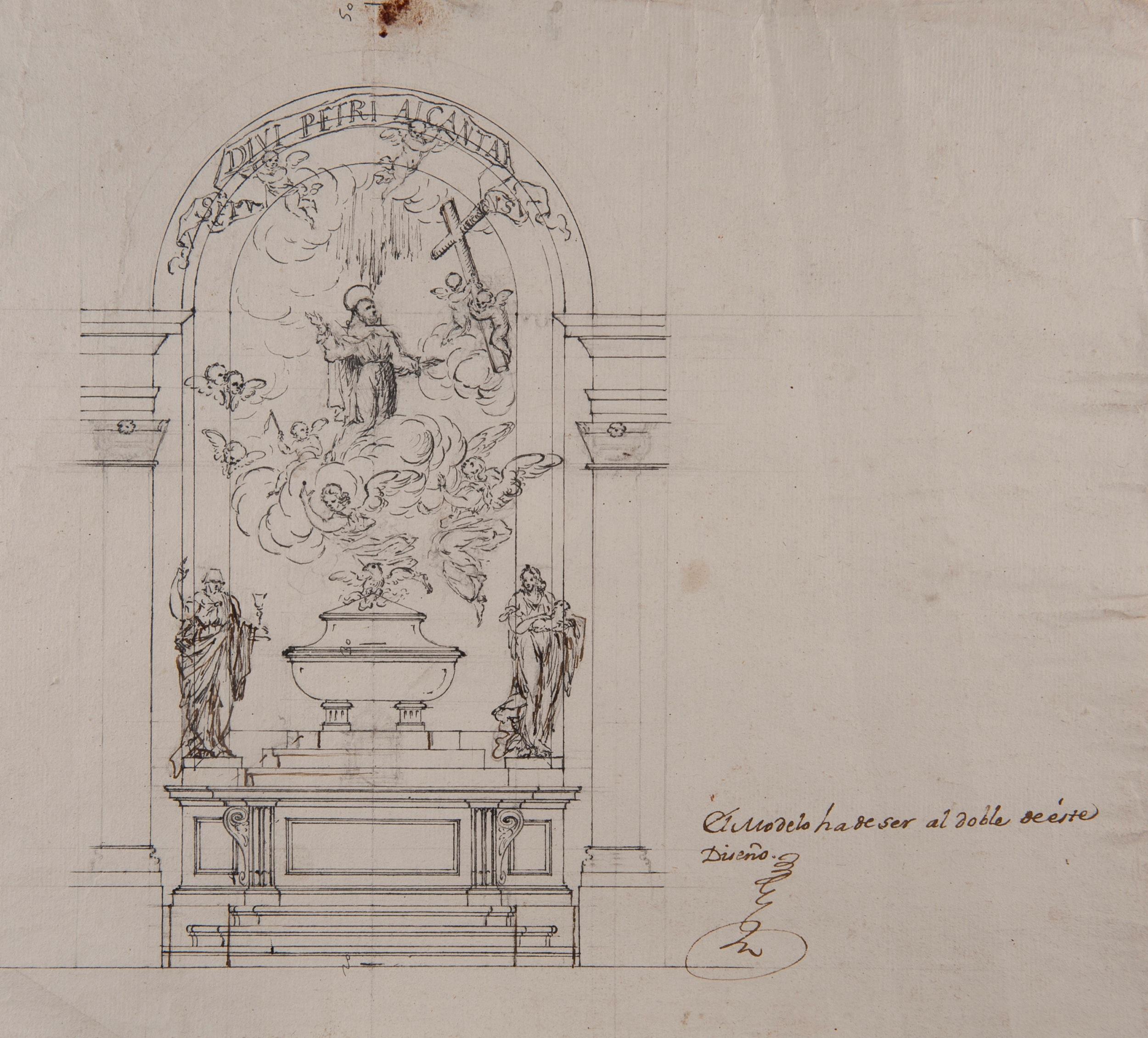 High Altar dedicated to Saint Peter of Alcántara - Francisco Gutiérrez