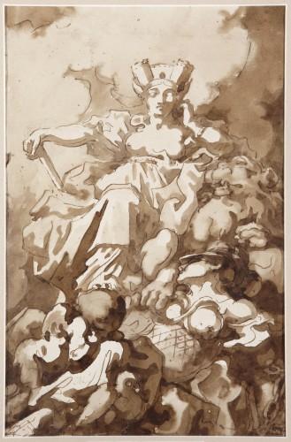 Cybele turning Hippomenes and Atalanta into Lions - Charles François de la Traverse