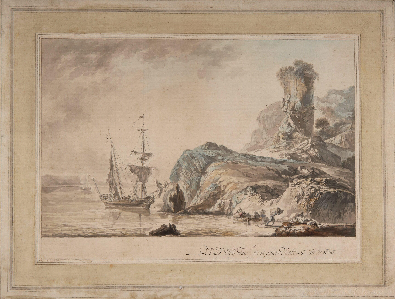 Unloading a Ship on an Estuary - Luis Paret y Alcázar