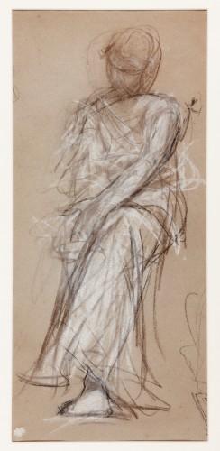 Study of a seated Figure - Ricardo Villodas y de la Torre