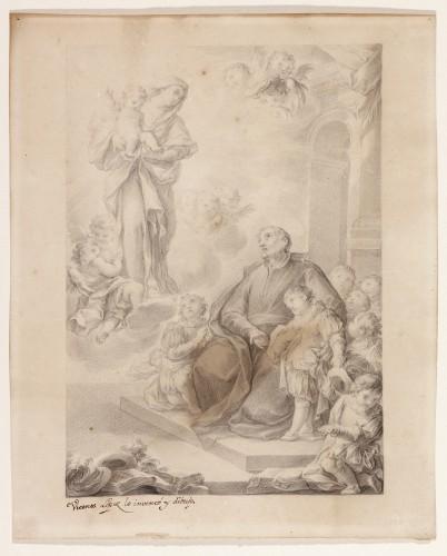 The Apparition of the Virgin and Child to Saint Joseph Calasanz - Vicente López Portaña