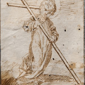 The Christ Child bearing the Cross - Felipe Gómez de Valencia