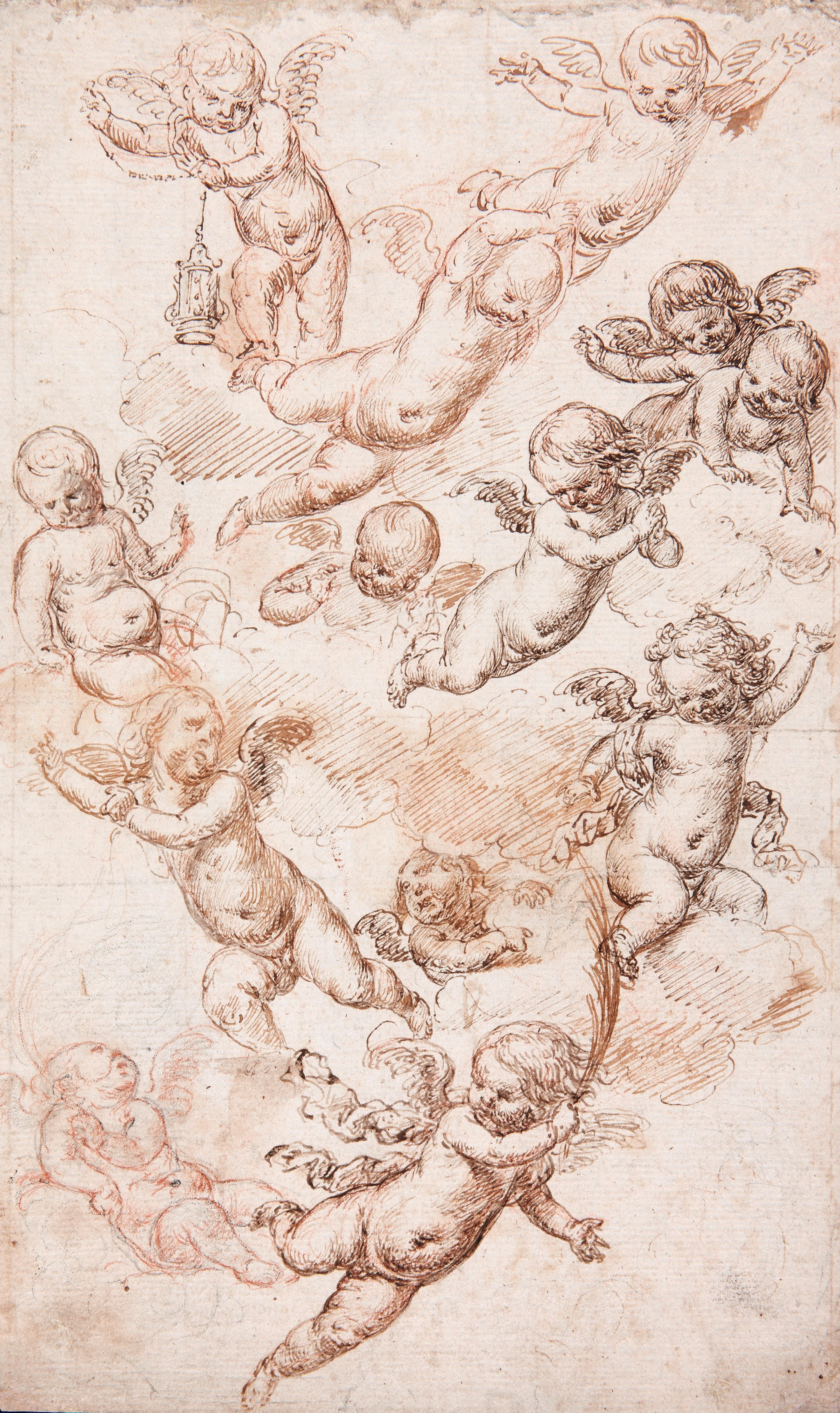 Child Angels in Flight - Antonio de Pereda