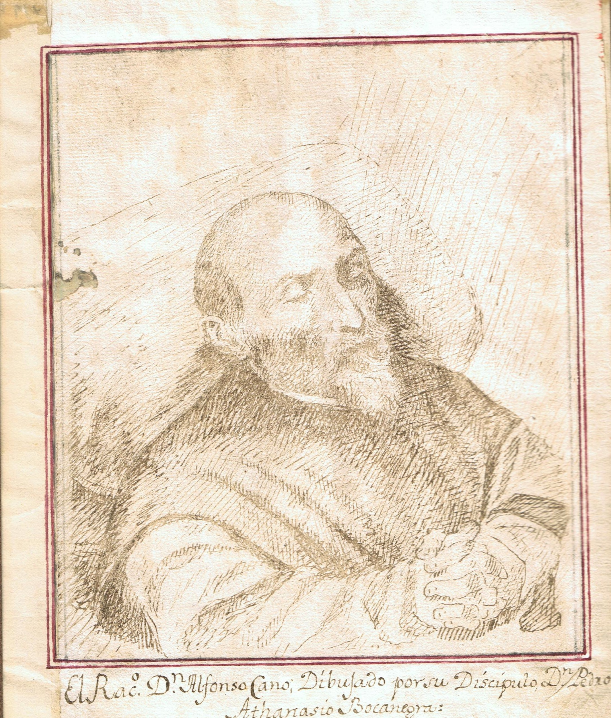 Portrait of Alonso Cano on his Deathbed - Pedro Atanasio Bocanegra