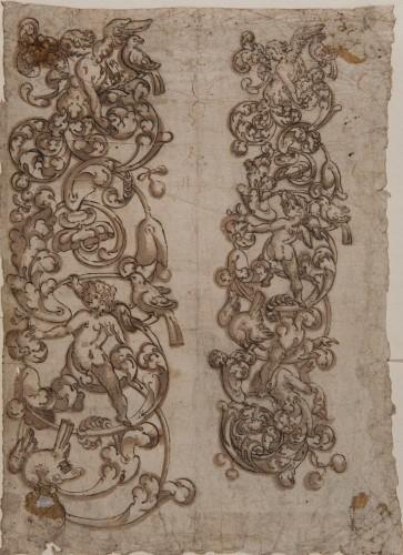 Decoration of Scrolls and Putti - Spanish School 16th century