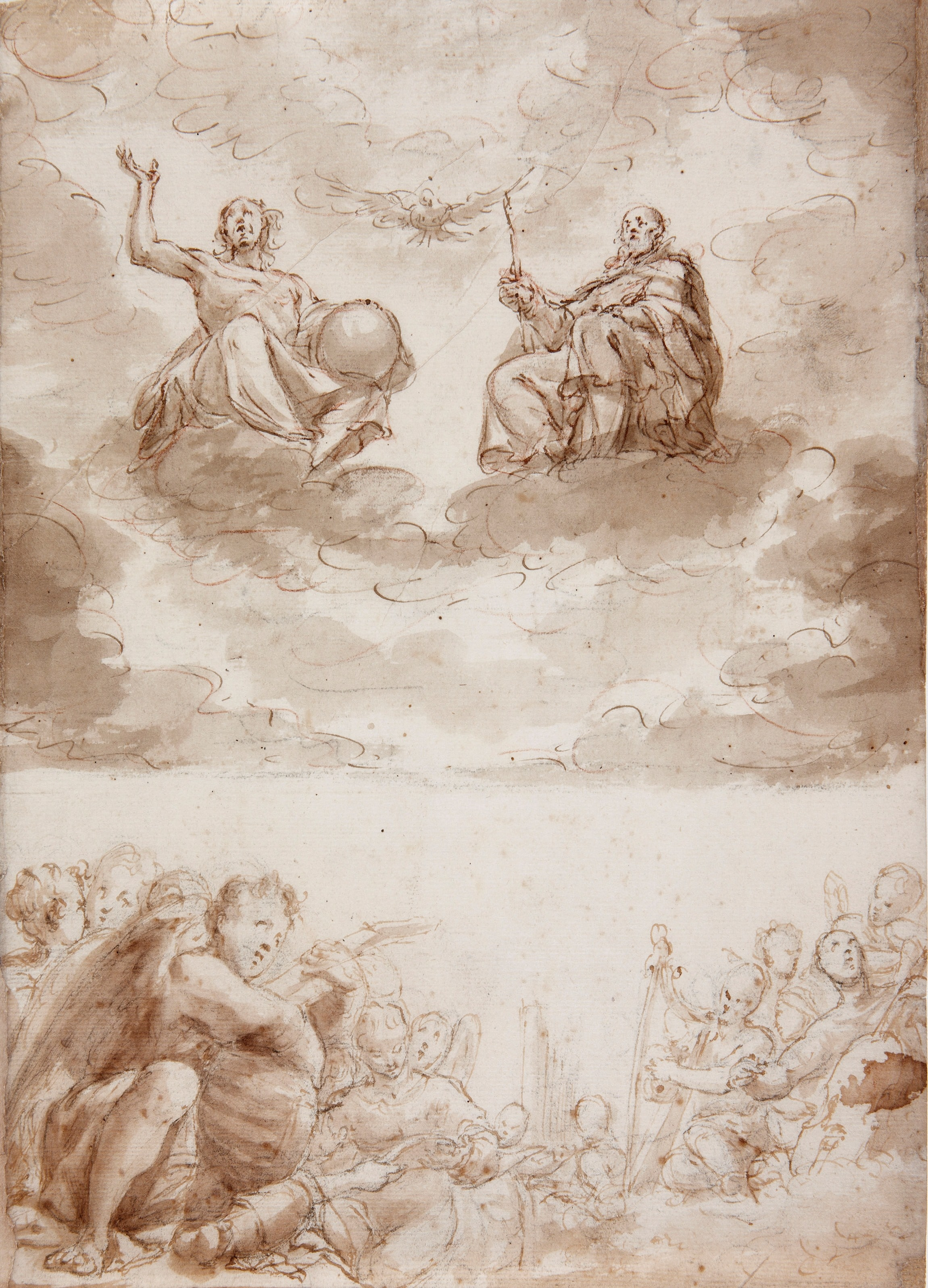 The Trinity and Musical Angels - Antonio de Pereda. Attributed to