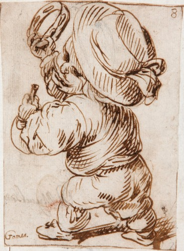 Dwarf with Bagpipes and Tambourine - Felipe Gómez de Valencia