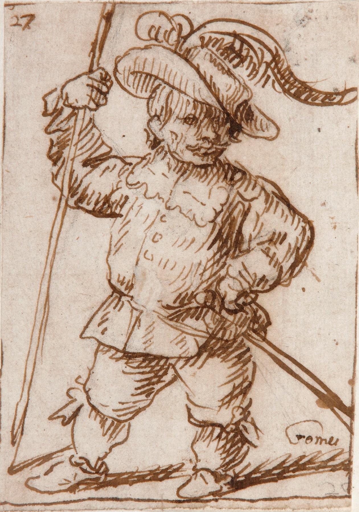 Dwarf dressed as a Soldier - Felipe Gómez de Valencia