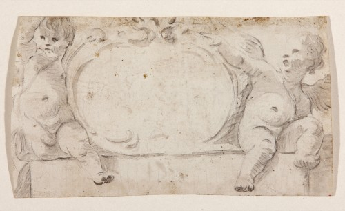 Putti sustaining a cartouche - Luca Giordano