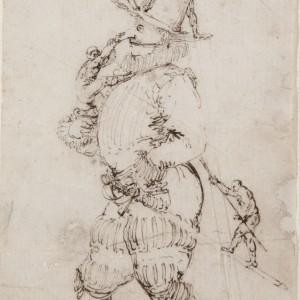 Gentleman with small Figures climbing up his Body - Jusepe de Ribera, lo Spagnoletto