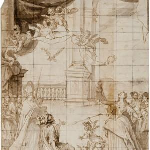 The Conversion of Clovis, King of the Franks - Matías de Torres