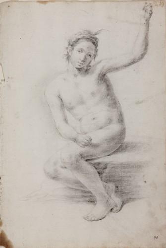 Male Nude, Academic Study - Domingo Martínez