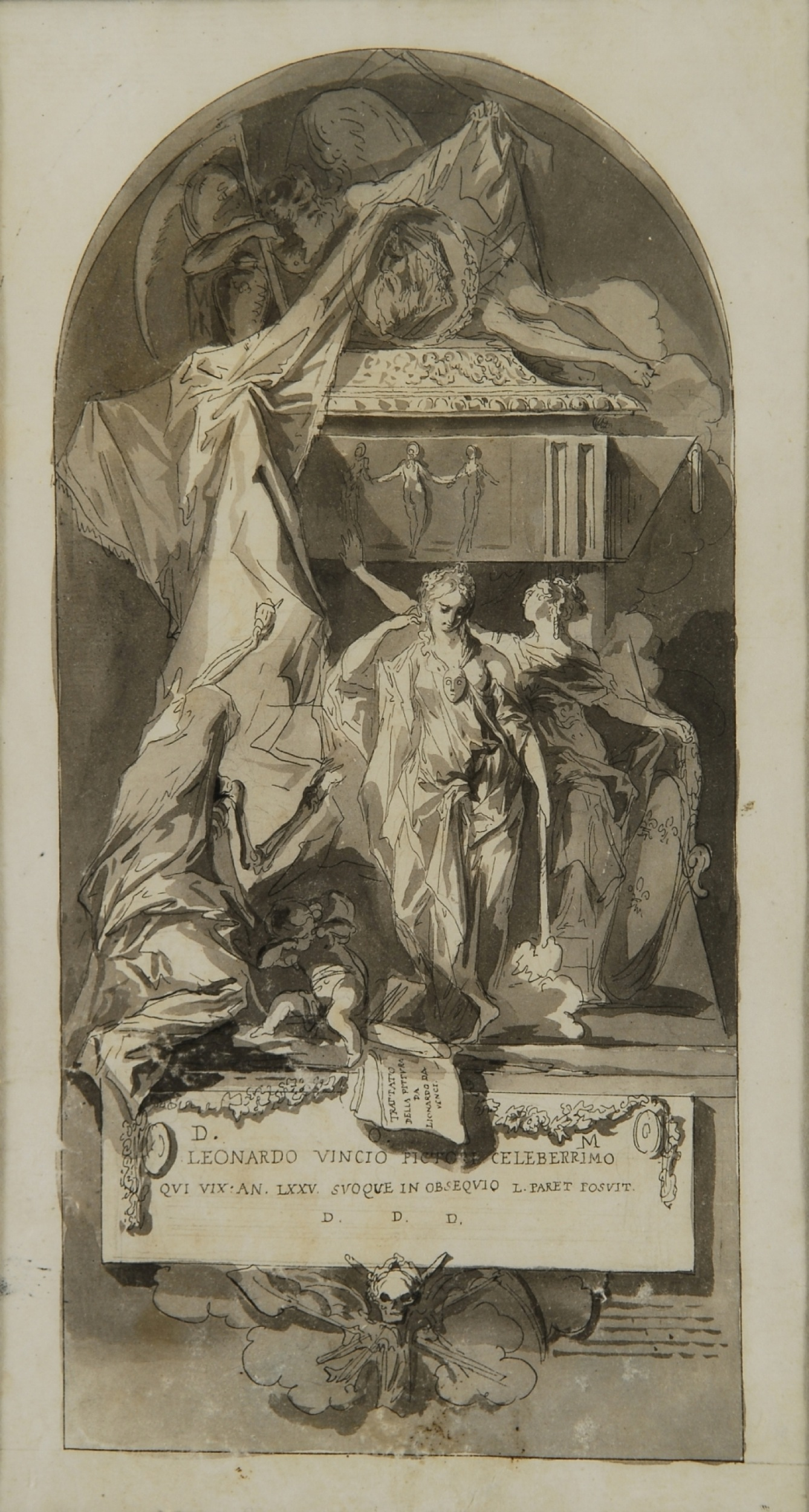 Allegorical funerary Monument to Leonardo da Vinci - Luis Paret y Alcázar