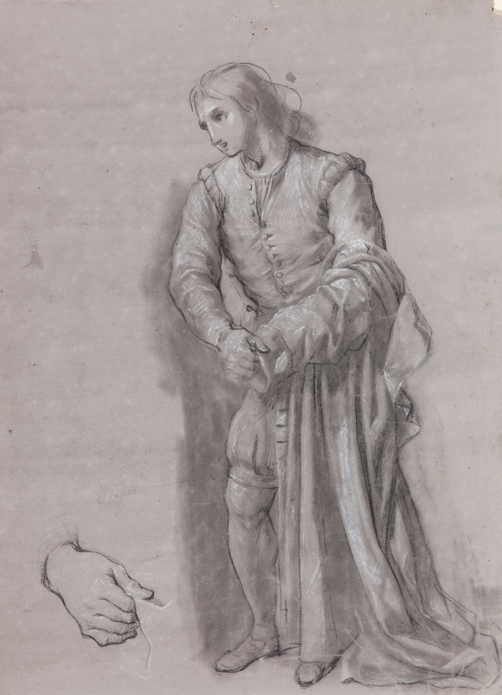 Saint Francis giving his cape to a poor person - Zacarías González Velázquez