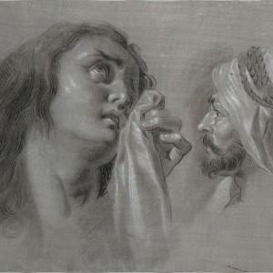 Mary Magdalene and Head of a Moor - Zacarías González Velázquez