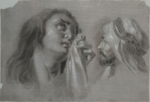 Studies for Mary Magdalen and Head of an Arab - Zacarías González Velázquez