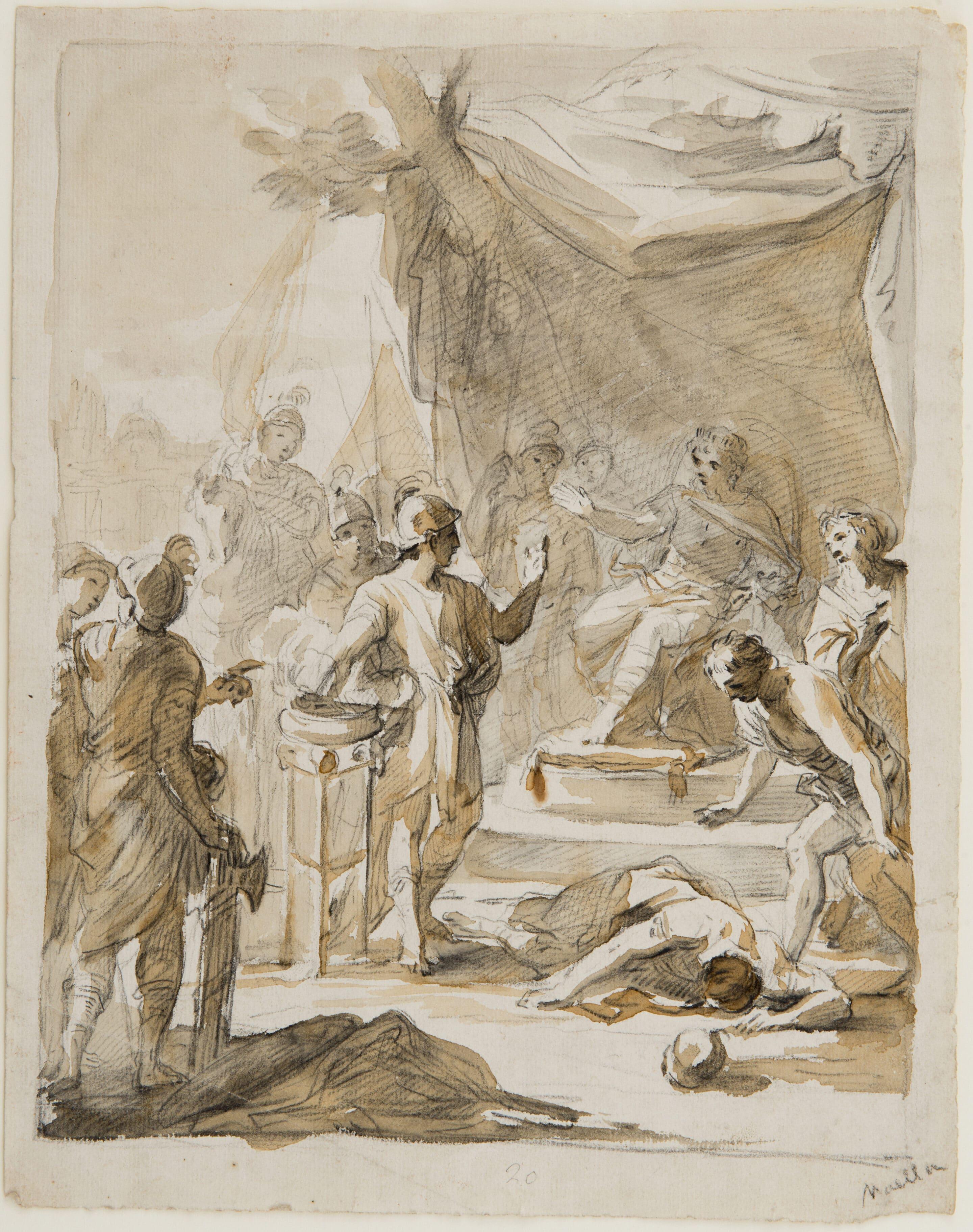 Mucius Scaevola confronting King Porsenna - Mariano Salvador Maella