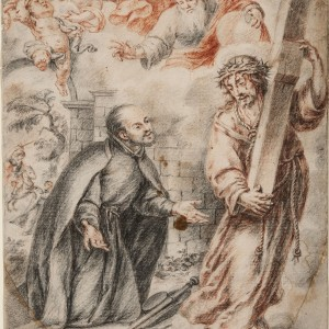 The Apparition of Christ to Saint Ignatius on his Way to Rome - Juan Valdés Leal