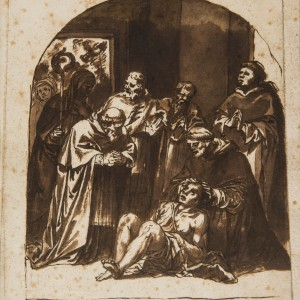 Scene from the Life of St. Dominic - Alonso Cano circle of