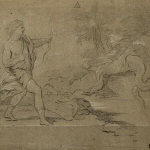 Apollo killing the Pythian Serpent - José del Castillo