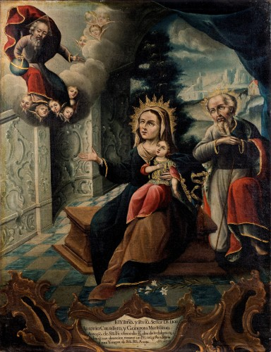The Holy Family of the Virgin - Colombian School 18th century