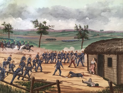 Scene from the Cuban War of Independence - Cuban School 19th century