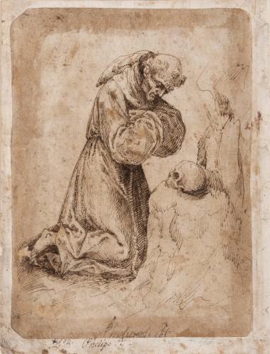 Study for Saint Francis of Assisi in Prayer - Felipe Gil de Mena