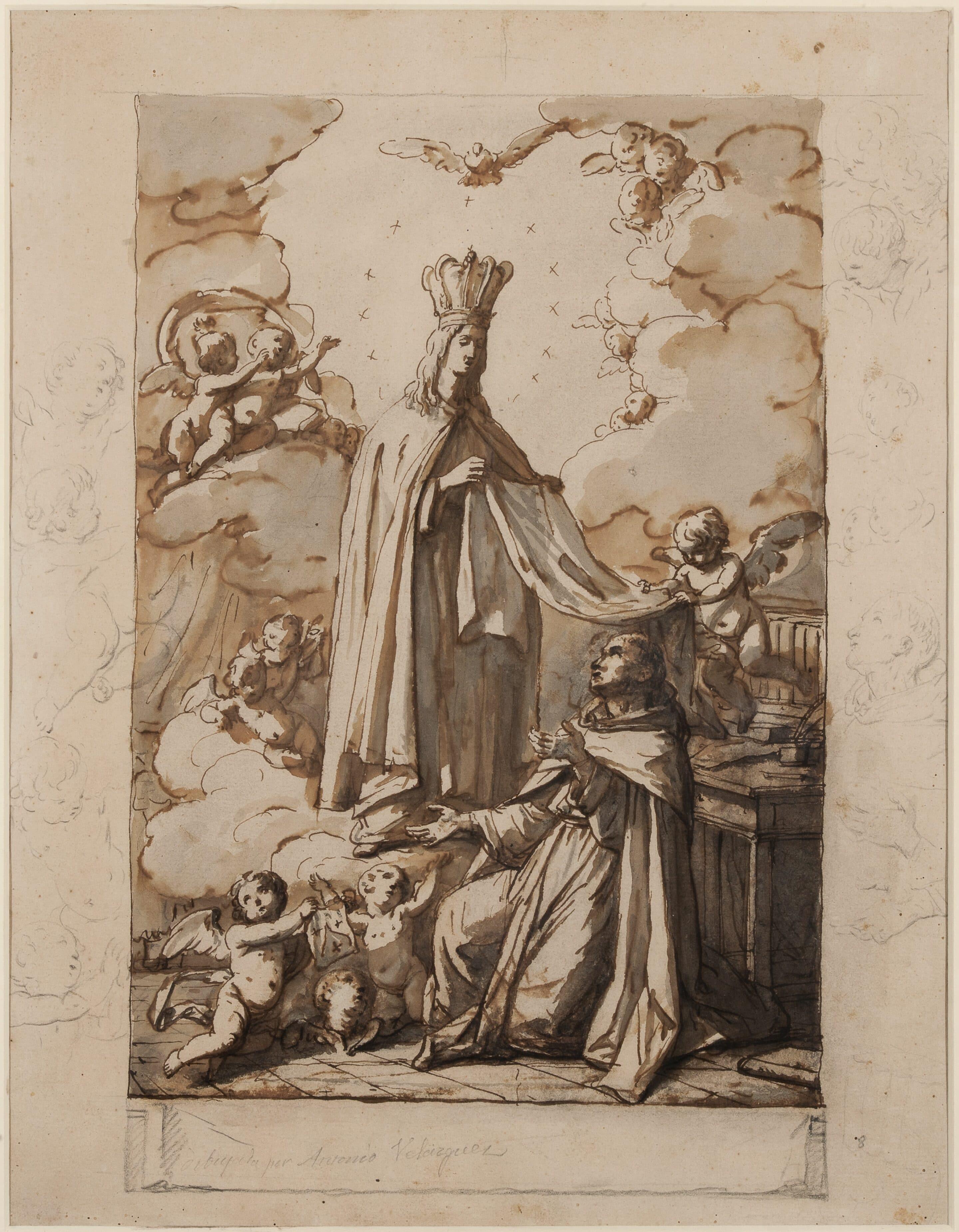 Flos Carmeli. The Apparition of the Carmelite Virgin to Saint Simon Stock - Antonio González Velázquez