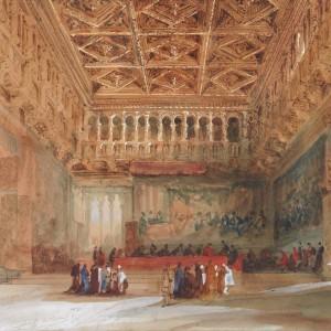 Parliament Hall, Valencia - Genaro Pérez Villaamil y Duguet