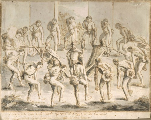 Ceremonial Dance of the Carib Indians - Italian School, 18th century