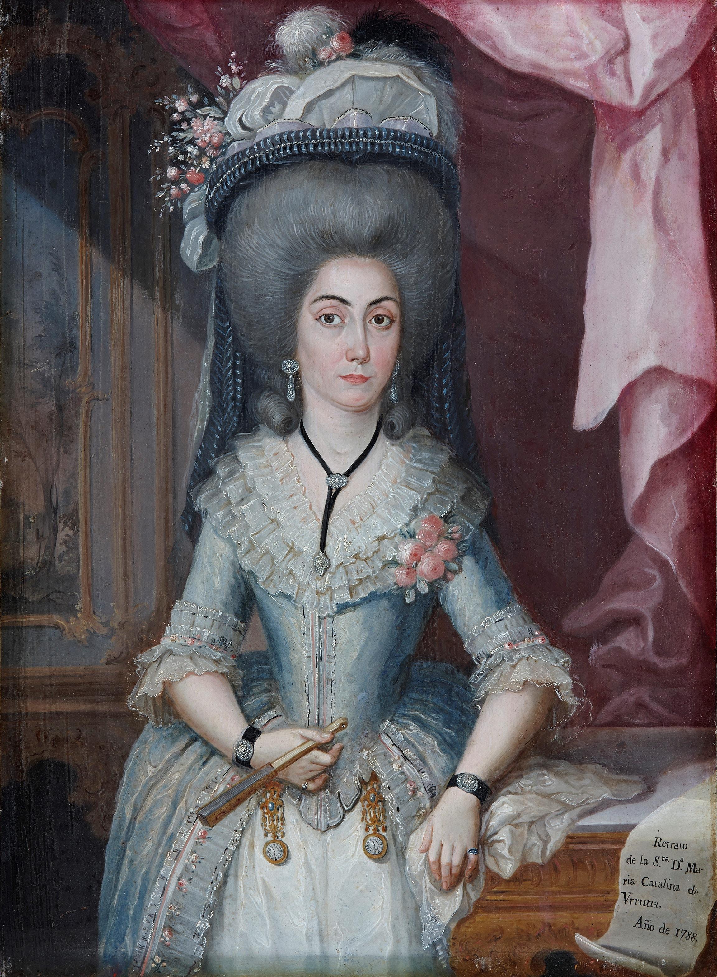 Portrait of doña María Catalina de Urrutia - José Campeche Jordán