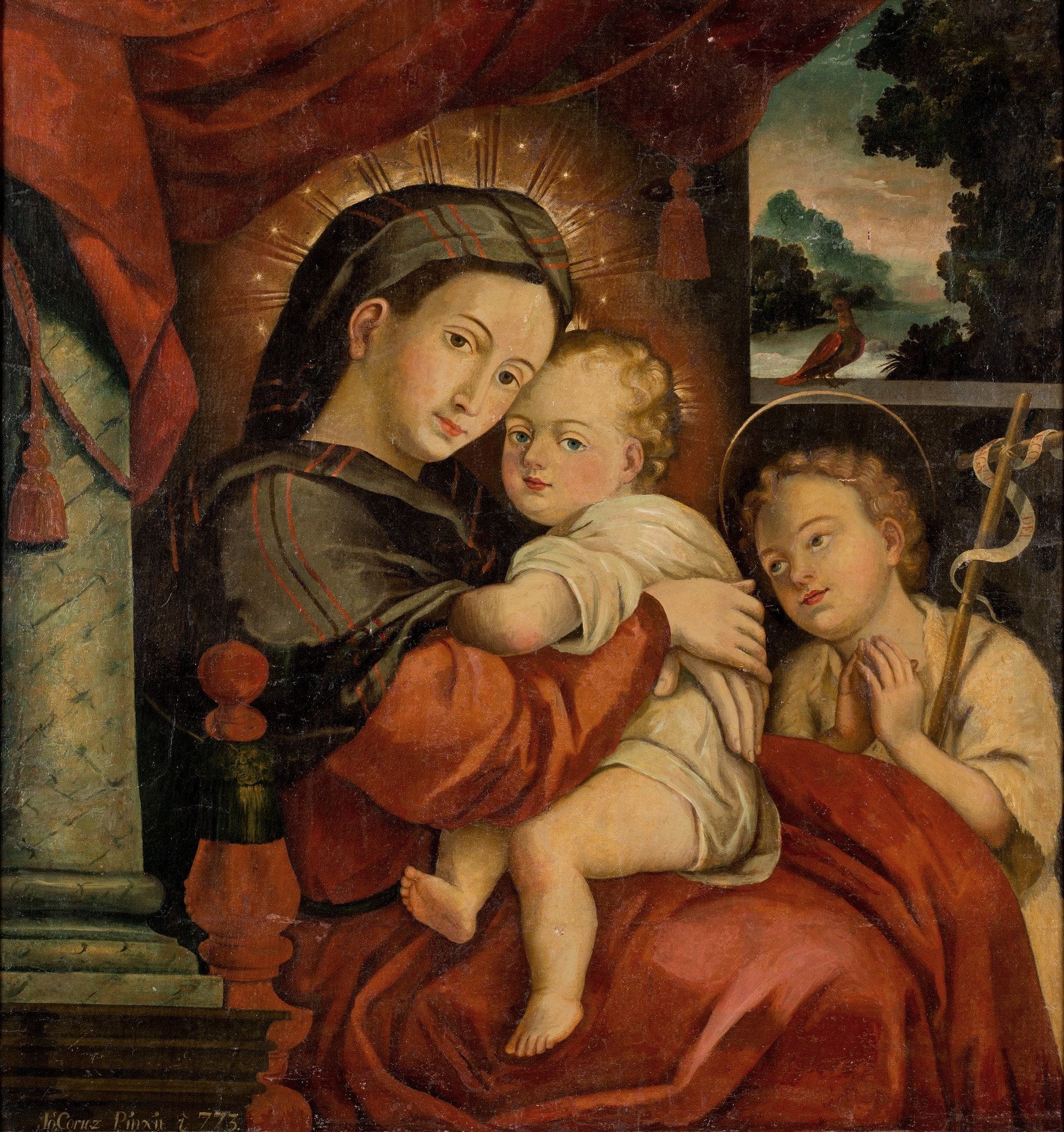 The Virgin and Child with the Infant Saint John - José Cortés de Alcozer