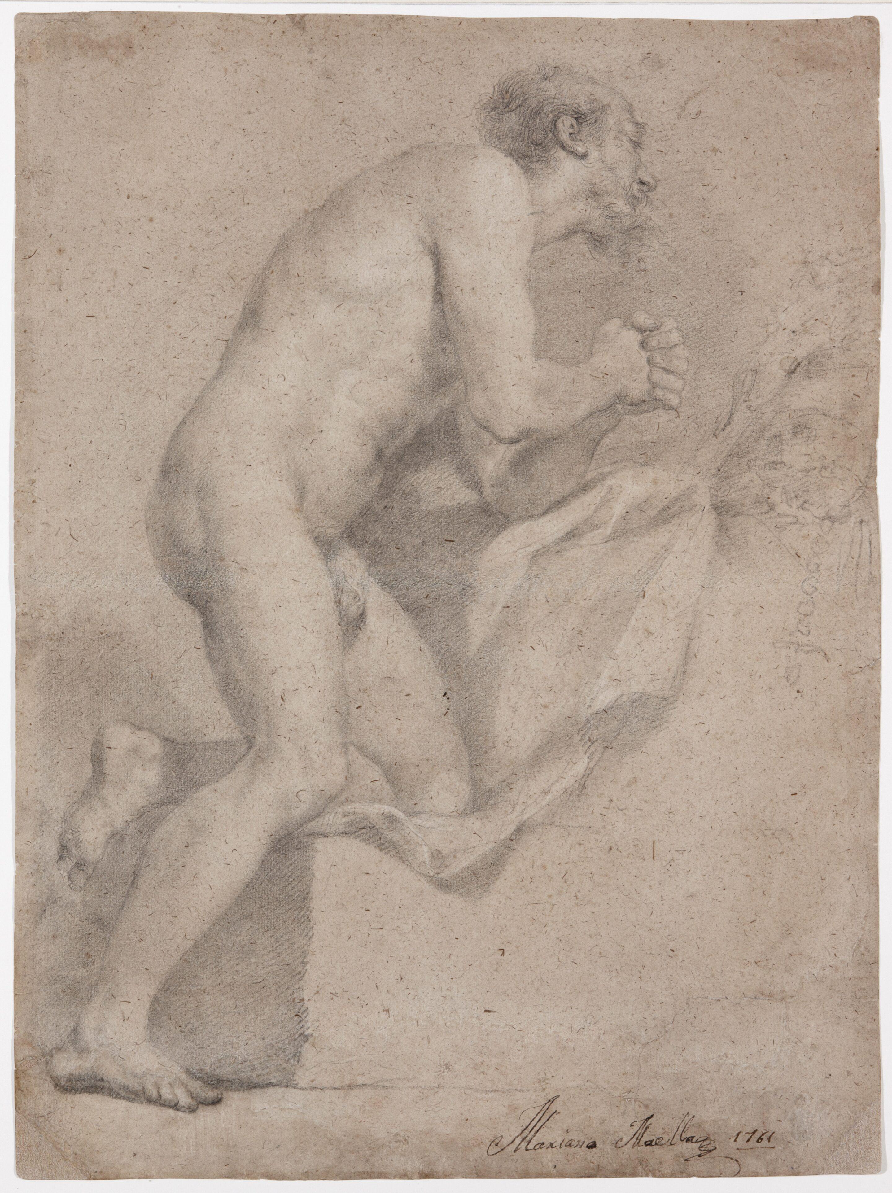 Academic Study, Saint Jerome Penitent - Mariano Salvador Maella