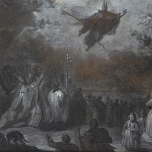 Saint Augustine vanquishing the Plague of Locusts - Miguel Jacinto Meléndez
