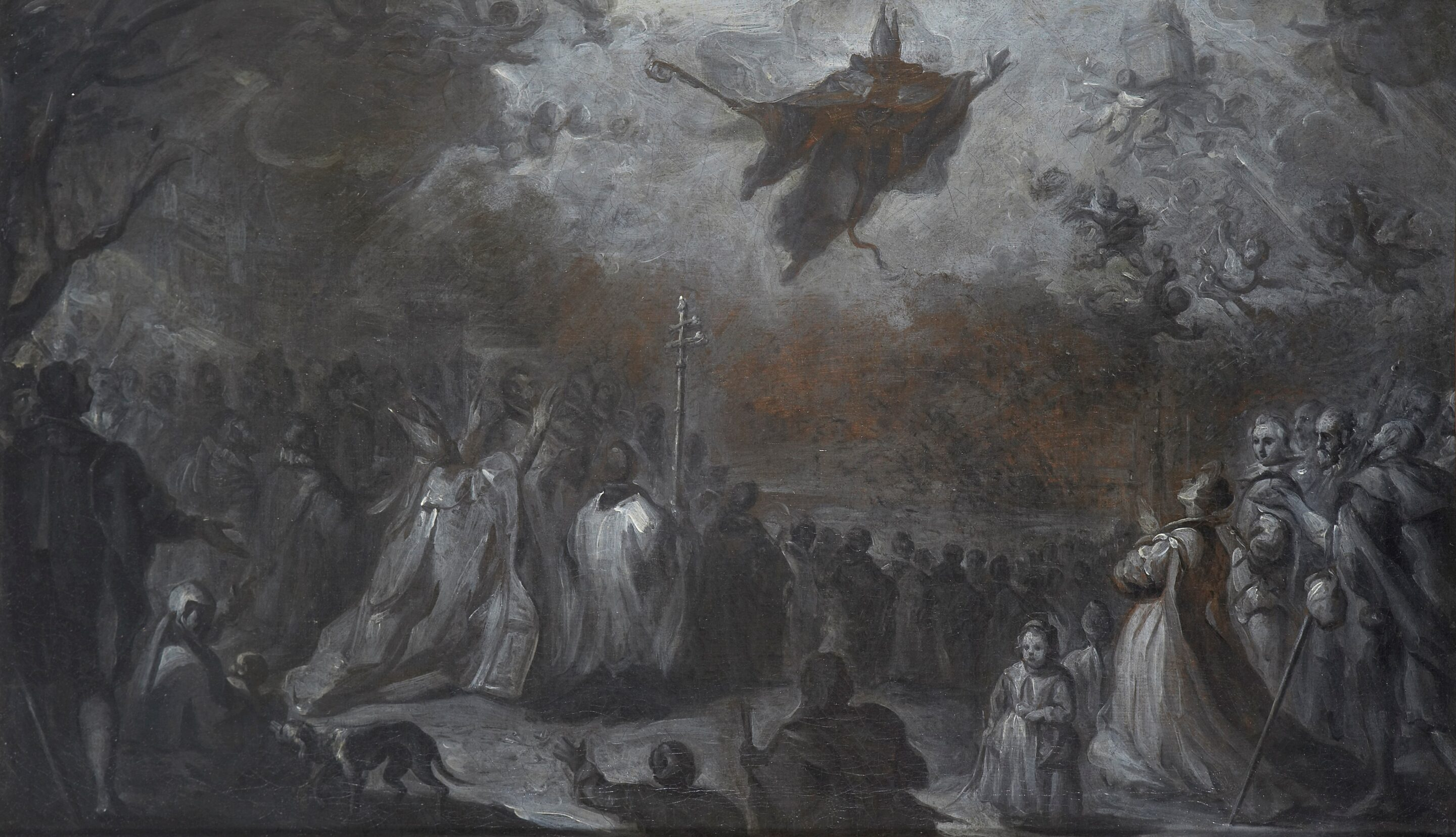 Saint Augustine vanquishing the Plague of Locusts - Miguel Jacinto Meléndez