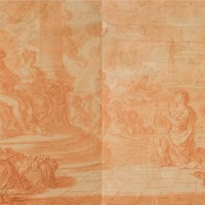 Apollo Playing the Lute Before Jupiter and Juno - Francisco Vieira Lusitano