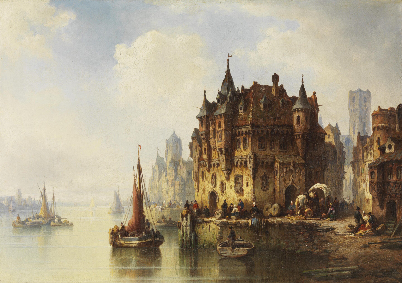 View of a city - Genaro Pérez Villaamil