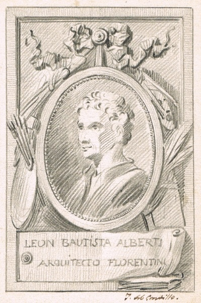 Portrait of Leon Battista Alberti - José del Castillo