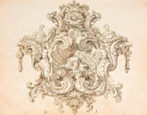 Decorative Motif - José Benito de Churriguera. Attributed to