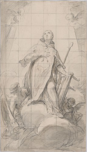 Saint Lawrence in glory - Mariano Salvador Maella