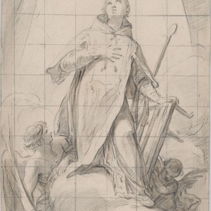Saint Lawrence in glory - Mariano Salvador Maella
