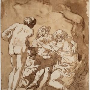 Lot made drunk by his Daughters - Charles François de la Traverse