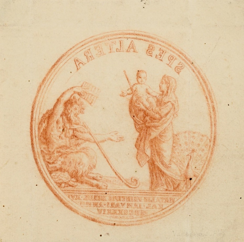 Spes Altera. Commemorative medal for the birth of the Princess Maria, future Maria I of Portugal - Francisco Vieira de Matos, known as Vieira Lusitano