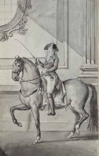 Manuel Godoy mounted on a Horse at walking gait - Antonio Carnicero